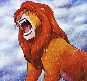 Walt डिज़्नी प्रशंसक Art - Simba
