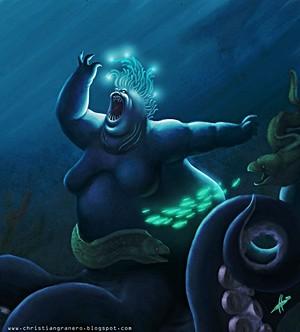 Walt ディズニー ファン Art - Ursula, Flotsam & Jetsam