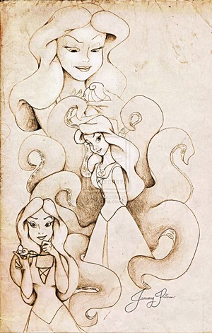 Walt Disney Fan Art - Vanessa & Ursula