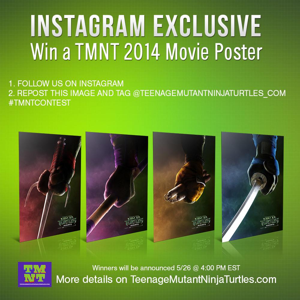 win a tmnt 2014 movie poster teenage mutant ninja