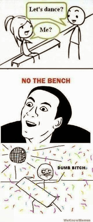 XD The bench is dancing