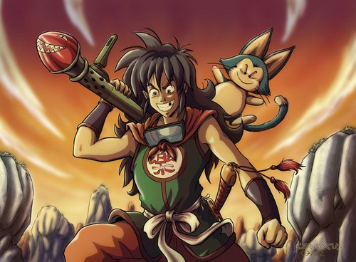 dragon ball z wallpaper containing anime entitled Yamcha and Puar