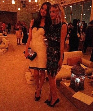 YoonA with Dakota Fanning at CHANEL fashion montrer in Dubai