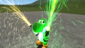 Yoshi with flares