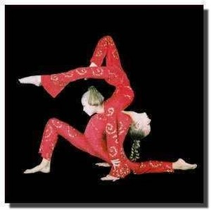 Young contortion duet