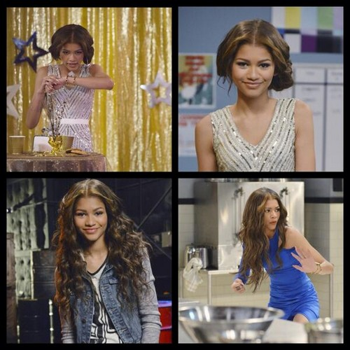 "젠다야 콜맨 바탕화면 with a portrait called Zendaya and the cast of ""K.C. Undercover"" shooting the pilot episode"