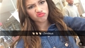 Zendaya snapchatting at the Seventeen Magazine offices in NYC today - zendaya-coleman photo