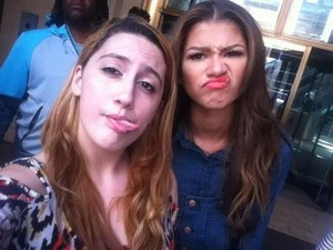 Zendaya with fans in NYC today