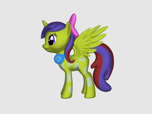 a 3D pony!