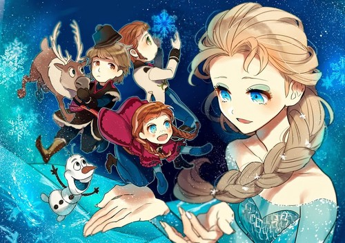 Rawak kertas dinding called Anime Frozen