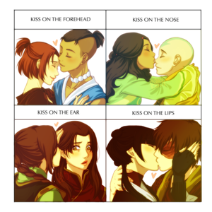 avatar kiss meme