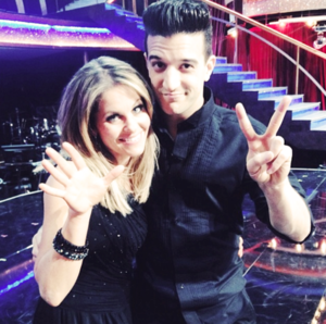 candace cameron bure and her dancing partner mark ballas