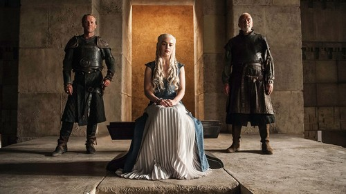 Daenerys Targaryen wolpeyper entitled dany with jorah and selmy
