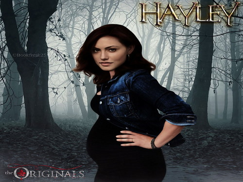 The Originals پیپر وال probably containing an outerwear entitled hayley