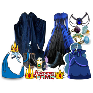 ice king and ice queen costum
