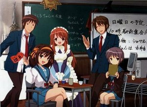 in class with haruhi(SOS!!)