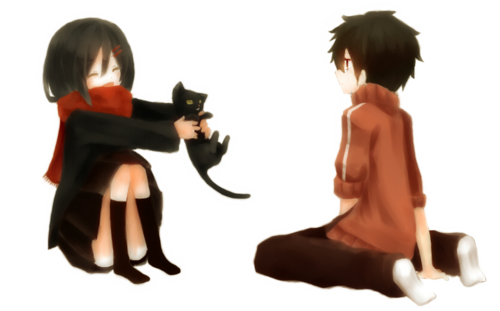 Mekaku City Actors wallpaper possibly containing a bearskin, a well dressed person, and a koktil, koktail dress titled kagerou days