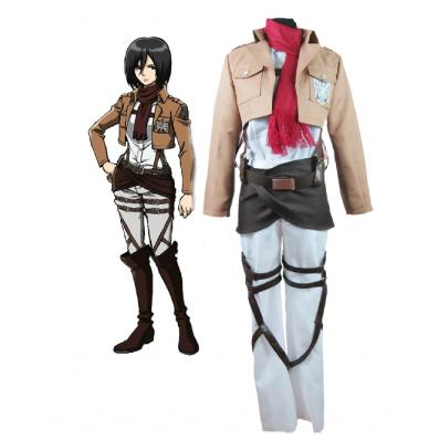 Shingeki no Kyojin (Attack on titan) wallpaper called mikasa ackerman cosplay costume