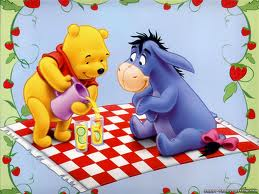 Winnie the Pooh wolpeyper entitled picnic with eeyore and pooh