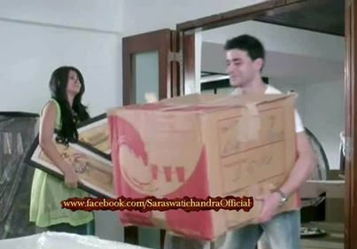Saraswatichandra (TV series) karatasi la kupamba ukuta probably containing a sign titled shifting 2 mumbai