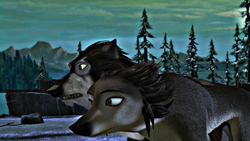 Alpha and Omega 2: a howl-iday adventure Hintergrund titled Slash and terra