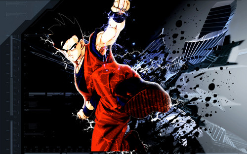 龙珠Z 壁纸 probably containing a sign titled ultimate gohan