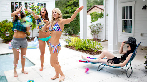WWE Divas wallpaper with a bikini titled  NXT's Summer Vacation - Pool Party