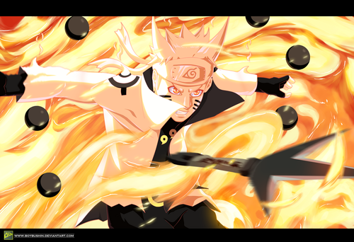 naruto shippuden wallpaper entitled *Naruto Ashura Mode*