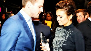 Nina Dobrev and Stephen Amell