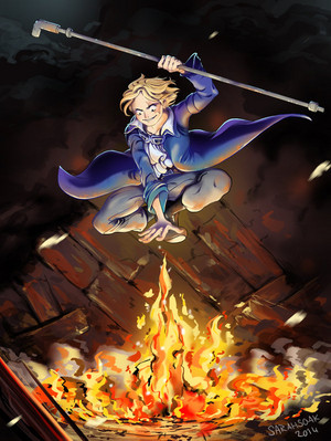 *Sabo Wields Flames*