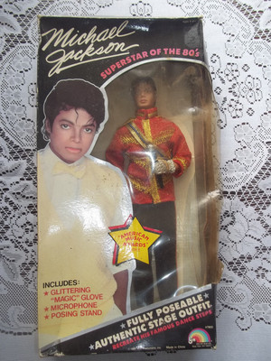 A Vintage Michael Jackson Doll From The 1980's