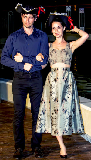 Adelaide Kane and Torrance Coombs at the 54th Monte-Carlo 텔레비전 Festival