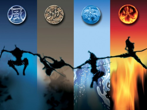 The Four Elements wallpaper entitled Air, earth, water, fuoco