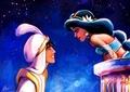 Aladdin and Jasmine - disney fan art