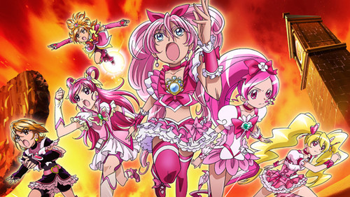 pretty cure वॉलपेपर possibly with ऐनीमे titled All stars DX 3