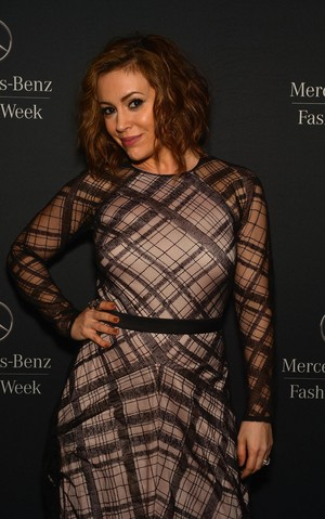Alyssa @ Mercedes-Benz Fashion Week Fall 2014 (February 6th)