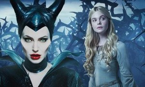 Angelina Jolie and Elle Fanning,Maleficent