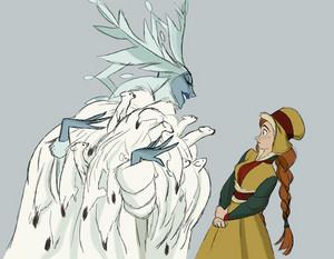 Anna and Elsa's Concept Art