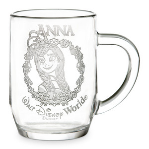 Anna glass mug from Disney Store