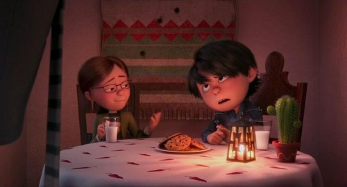 despicable me 2 club wallpaper containing a dinner table and a candle called Antonio face is just like.. .. who in the hell are you?
