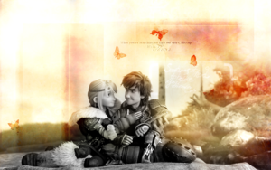 Astrid and Hiccup - HQ 壁纸