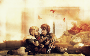 Astrid and Hiccup - HQ fond d'écran