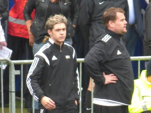 At Niall's charity football game. 26/5/14