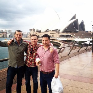 At the Sydney Opera House with the волк pack