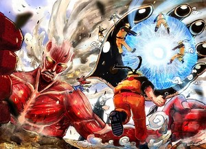 Attack on the one piece naruto,