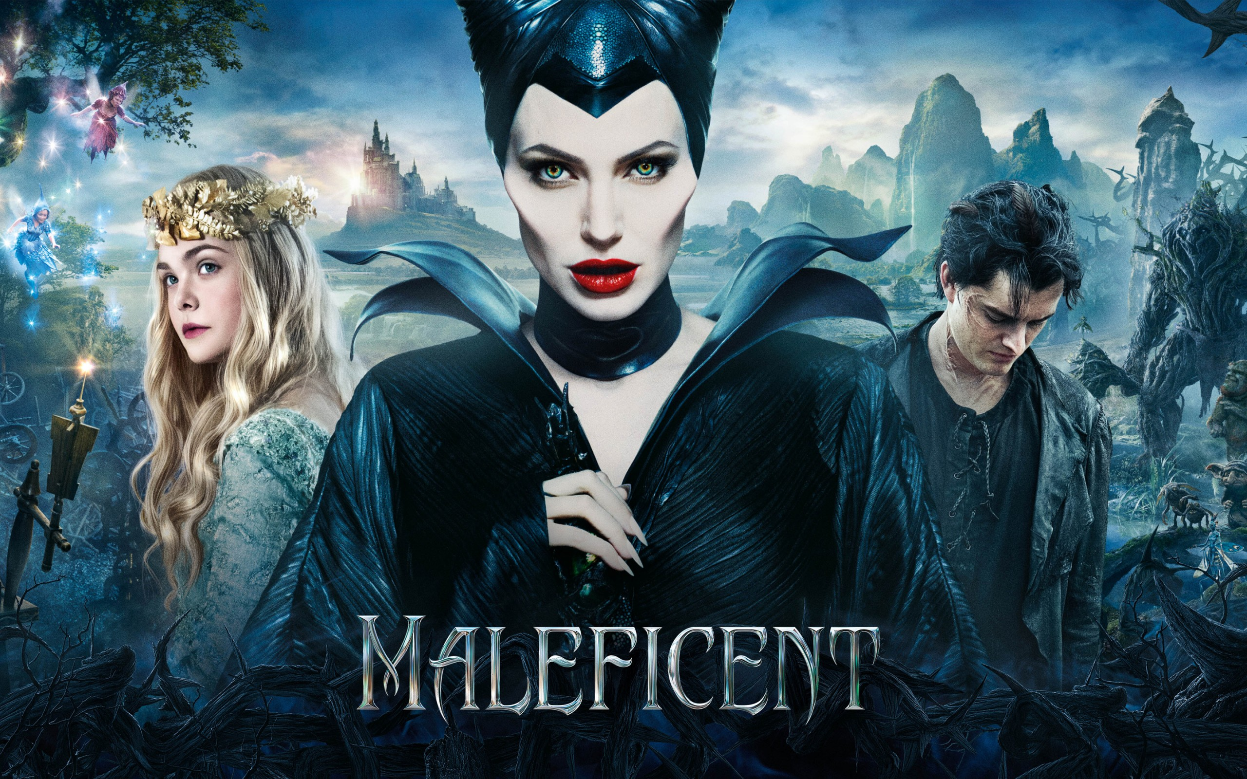 Aurora Maleficent And Diaval Maleficent 2014 Photo