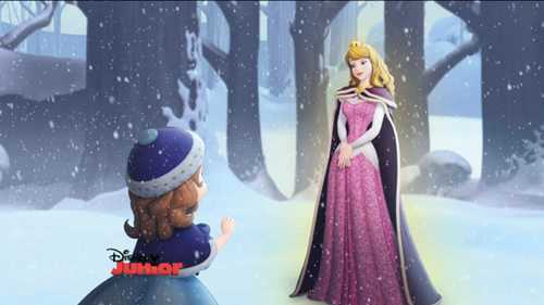 Princess Aurora achtergrond titled Aurors in sofia the first