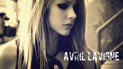 Avril Lavigne wallpaper containing a portrait called Avril Lavigne Wallpaper By MiniJukes