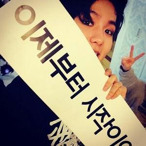 Baekhyun 140525 Instagram Update Okay this is the start! My dream! The journey to my dream!