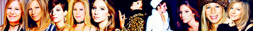 Barbra Streisand 사진 possibly with a 주걱 titled Barbra Streisand - Banner